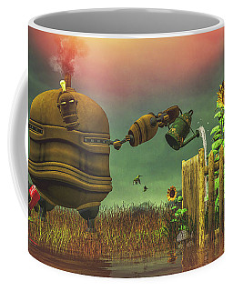 Coffee Mug featuring the digital art The Gardener by Bob Orsillo