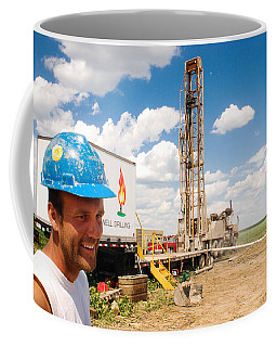 Coffee Mug featuring the photograph The Gas Man by Carl Young