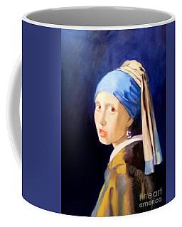 The Girl With The  Pearlearring Coffee Mug