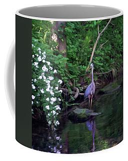 The Great Blue Heron - Impressionism Coffee Mug