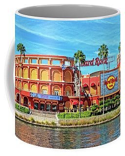 The Hard Rock Cafe At The Universal Studio Resort In Orlando, Fl Coffee Mug