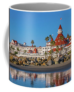 Coffee Mug featuring the photograph The Hotel Del Coronado San Diego by Robert Bellomy