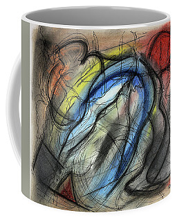 Coffee Mug featuring the pastel The Hump by Mark Jordan