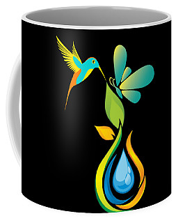 The Kissing Flower And The Butterfly On Flower Bud Coffee Mug