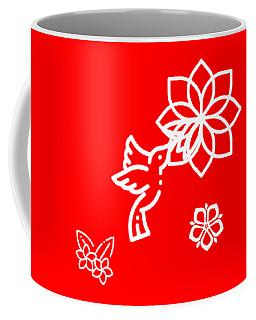 The Kissing Flower On Flower Coffee Mug