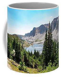 Coffee Mug featuring the photograph The Lakes Of Medicine Bow Peak by Nicole Lloyd