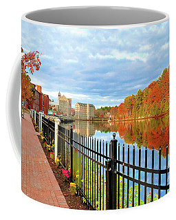 Coffee Mug featuring the photograph The Lamprey River by Debbie Stahre