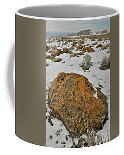 The Lichen Covered Boulders Of The Book Cliffs Coffee Mug