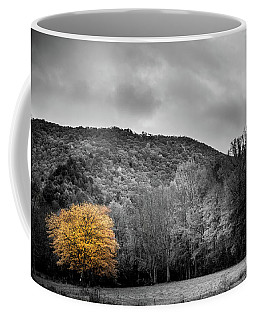Coffee Mug featuring the photograph The Lone Yellow Tree by Greg Mimbs