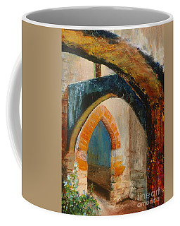 Coffee Mug featuring the painting The Mission by Donna Hall