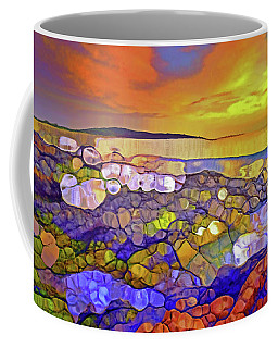 Sunset Seascape Drawings Coffee Mugs