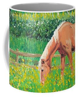 The Palomino And Buttercup Meadow Coffee Mug