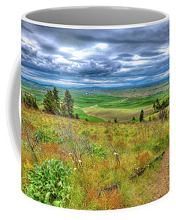 Coffee Mug featuring the photograph The Path Down Kamiak Butte by David Patterson