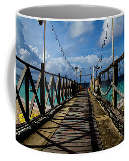 Coffee Mug featuring the photograph The Pier by Stuart Manning