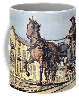 Coffee Mug featuring the painting The Post Car, Clifden, Galway by Val Byrne