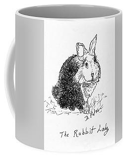 The Rabbit Lady Drawing Coffee Mug