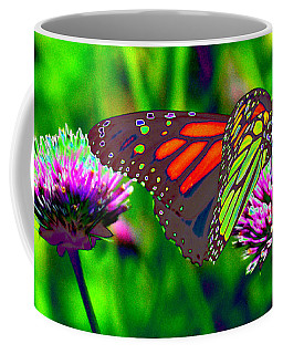 The Red Monarch Butterfly Coffee Mug
