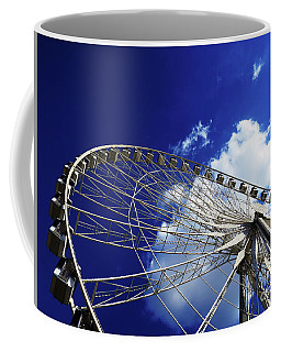Coffee Mug featuring the photograph The Ride To Acrophobia by Rick Locke