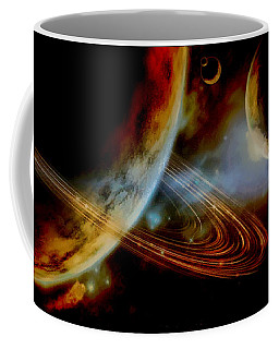 The Ringed World Of Asterion Coffee Mug