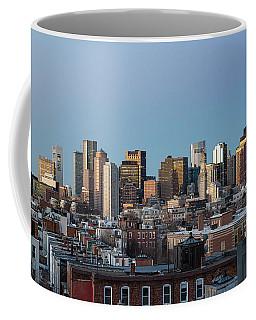 The Skyline Of Boston In Massachusetts, Usa On A Clear Winter Ev Coffee Mug