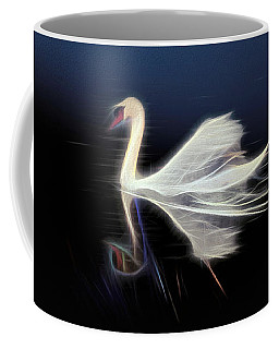 Coffee Mug featuring the photograph The Swan by Leigh Kemp