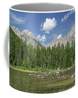 Coffee Mug featuring the photograph The Tetons In Summer by Ronnie and Frances Howard