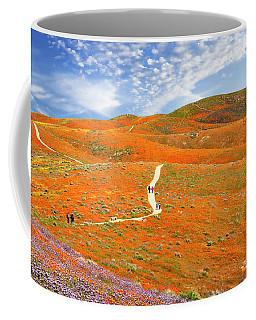 The Trail Through The Poppies Coffee Mug