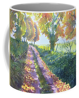 The Tunnel In Autumn Coffee Mug
