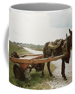 Coffee Mug featuring the painting The Turf Donkey by Val Byrne