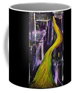 Coffee Mug featuring the painting The Woman In The Yellow Dress by Rebecca Davidson