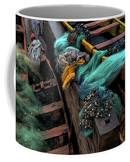 Coffee Mug featuring the photograph The Yellow Boat by Wayne King