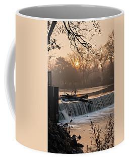 Thiensville Dam In December Coffee Mug