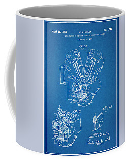 This 1936 Harley Davidson Knucklehead Blueprint Patent Print Coffee Mug