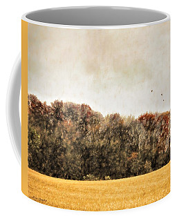 Three Crows And Golden Field Coffee Mug