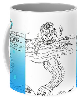 Three Mermaids All In A Row Coffee Mug