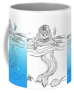 Three Mermaids All In A Row Coffee Mug
