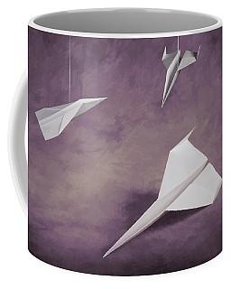 Three Paper Airplanes Coffee Mug