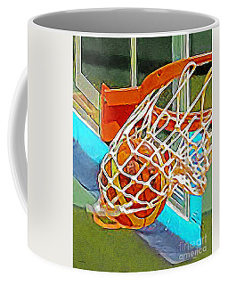 Coffee Mug featuring the photograph Three Point Shot From Downtown Nothing But Net Basketball 20190106 by Wingsdomain Art and Photography