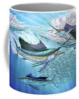 Three Sailfish And Bait Ball Coffee Mug
