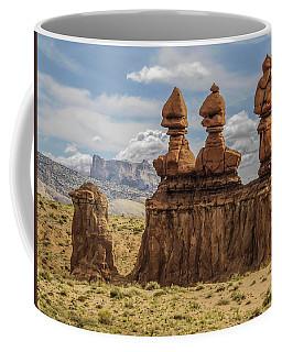 Three Sisters Hoodoos Goblin Valley State Park Coffee Mug
