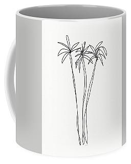 Three Tall Palm Trees- Art By Linda Woods Coffee Mug
