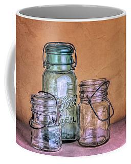 Three Vintage Ball Jars Coffee Mug