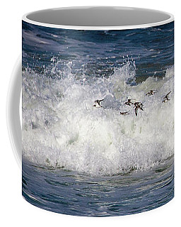 Coffee Mug featuring the photograph Through The Waves by Lora J Wilson