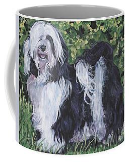 Tibetan Terrier In Grass Coffee Mug