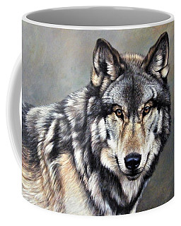 Timber Wolf By Alan M Hunt Coffee Mug