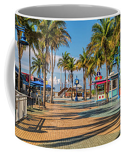 Times Square In Fort Myers Beach Florida Coffee Mug