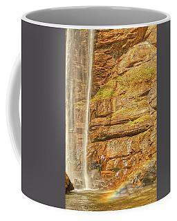 Coffee Mug featuring the photograph Tocca Falls Rainbow by Meta Gatschenberger