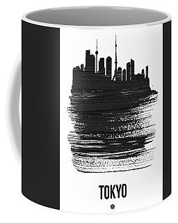Tokyo Skyline Brush Stroke Black Coffee Mug