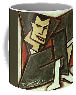 Tommervik Abstract Cubism Count Dracula Art Print Coffee Mug