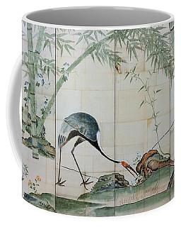 Top Quality Art - Cranes Pines And Bamboo Coffee Mug